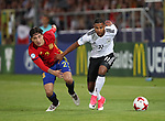 Germany's Serge Gnabry tussles with Spain's Hector Bellerin during the UEFA Under 21 Final at the Stadion Cracovia in Krakow. Picture date 30th June 2017. Picture credit should read: David Klein/Sportimage