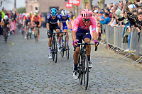 Alberto Bettiol (ITA/EF Education First) at the moment he breaks free from the race leaders group up the Oude Kwaremont (and will stay ahead until the finish)<br /> <br /> 103rd Ronde van Vlaanderen 2019<br /> One day race from Antwerp to Oudenaarde (BEL/270km)<br /> <br /> ©kramon