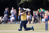 Ravi Bopara of Essex hits a towering six during Upminster CC vs Essex CCC, Benefit Match Cricket at Upminster Park on 8th September 2019