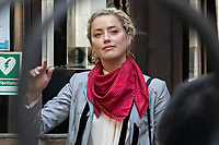 London, UK - 21 July 2020<br /> Amber Heard attends libel trial against The Sun, a tabloid newspaper, at The Royal Courts of Justice.<br /> CAP/JOR<br /> ©JOR/Capital Pictures
