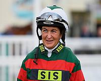 Jockey Serena Brotherton during Evening Racing at Salisbury Racecourse on 3rd September 2019