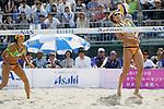 (L to R) Takemi Nishibori, Satoko Urata, MAY 6, 2012 - Beach Volleyball : JBV Tour 2012 Sports Club NAS Open  Women's final at Odaiba Beach, Tokyo, Japan. (Photo by Yusuke Nakanishi/AFLO SPORT) [1090]