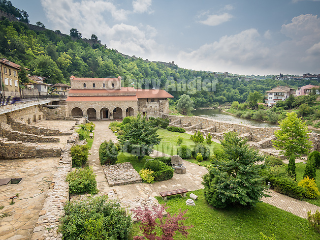 Exterior, Church of the 40 Martyrs of Sebaste, constructed in 1230 and the place of repose (death) of St. Sava in 1236.<br /> <br /> Veliko Tarnovo, Bulgaria