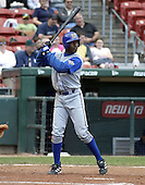 June 26, 2004:  B.J. (BJ) Upton of the Durham Bulls, International League (AAA) affiliate of the Tampa Bay Devil Rays, during a game at Dunn Tire Park in Buffalo, NY.  Photo by:  Mike Janes/Four Seam Images