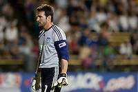 Joe Cannon returns to his goal. The San Jose Earthquakes defeated the Kansas City Wizards in stoppage time 1-0 at Buck Shaw Stadium in Santa Clara, California on August 22, 2009.