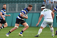 Jack Davis of Bath United in possession. Aviva A-League match, between Bath United and Saracens Storm on September 1, 2017 at the Recreation Ground in Bath, England. Photo by: Patrick Khachfe / Onside Images