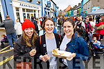Valda Smith, Carmel Desmond and Aoife Counihan, enjoying the Dingle Food Festival on Saturday last.
