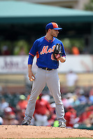 New York Mets pitcher Erik Goeddel (62) during a Spring Training game against the St. Louis Cardinals on April 2, 2015 at Roger Dean Stadium in Jupiter, Florida.  The game ended in a 0-0 tie.  (Mike Janes/Four Seam Images)