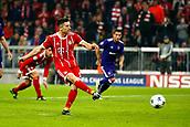 September 12th 2017, Munich, Germany, Champions League football, Bayern Munich versus Anderlecht;  Robert Lewandowski of Bayern Munchen scores from his penalty