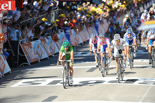 16th July 2009: Tour de France, Stage 12 Tonnerre - Vittel, Columbia - High Road, Cervelo Test, Lampre - Ngc, Cavendish Mark, Hushovd Thor, Bandiera Marco, Santambrogio Mauro, Vittel (Photo: Stefano Sirotti/ActionPlus)