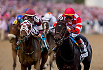 May 3, 2019 : Serengeti Empress, #13, ridden by Jose L Ortiz, wins the Longines Kentucky Oaks on Kentucky Oaks Day at Churchill Downs on May 3, 2019 in Louisville, Kentucky. Kaz Ishida/Eclipse Sportswire/CSM