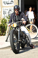 David Beckham enjoys riding his custom-made vintage Harley Davidson - Los Angeles