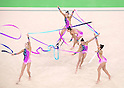Germany team group (GER),<br /> AUGUST 20, 2016 - Rhythmic Gymnastics :<br /> Group All-Around Qualification, Rotation 1 Ribon at Rio Olympic Arena during the Rio 2016 Olympic Games in Rio de Janeiro, Brazil. (Photo by Enrico Calderoni/AFLO SPORT)
