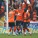 :: DUNDEE UTD'S SCOTT SEVERIN CELEBRATES AFTER HE SCORES UNITED'S FIRST :: .23/04/2011   Copyright  Pic : James Stewart.sct_jsp028_dundee_utd_v_kilmarnock .James Stewart Photography 19 Carronlea Drive, Falkirk. FK2 8DN      Vat Reg No. 607 6932 25.Telephone      : +44 (0)1324 570291 .Mobile              : +44 (0)7721 416997.E-mail  :  jim@jspa.co.uk.If you require further information then contact Jim Stewart on any of the numbers above.........