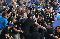 Rory McIlroy (Team Europe) goes to the greenkeepers after the Sunday' Singles, at the Ryder Cup, Le Golf National, &Icirc;le-de-France, France. 30/09/2018.<br /> Picture David Lloyd / Golffile.ie<br /> <br /> All photo usage must carry mandatory copyright credit (&copy; Golffile | David Lloyd)