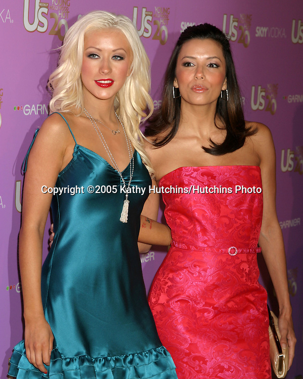 Christina Aguilera.Eva Longoria.US Magazine Hot 20 Party.LAX Club.Los Angeles, CA.September 17, 2005.©2005 Kathy Hutchins / Hutchins Photo