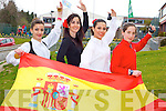 The Spanish Connection: Spanish teachers -r: Silvia Seville, Sandra Villena and Laura Garcia who are teaching in Holy Cross NS in Killarney and Spanish student Maria Sanchez..