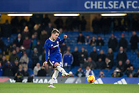 Marco Van Ginkel of Chelsea misses his penalty during Chelsea's 13-12 penalty shootout win as a record 34 spot-kicks are taken during the The Checkatrade Trophy match between Chelsea U23 and Oxford United at Stamford Bridge, London, England on 8 November 2016. Photo by Andy Rowland.