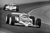INDIANAPOLIS, IN - MAY 29: Al Unser, Jr., drives his Eagle 8114/Cosworth during practice for the Indianapolis 500 USAC Indy Car race at the Indianapolis Motor Speedway in Indianapolis, Indiana, on May 29, 1983.