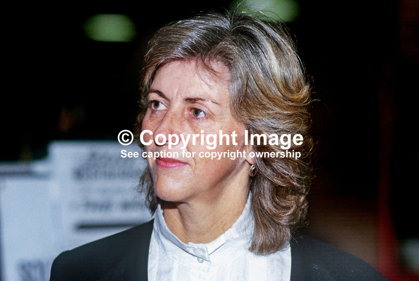 Diana Brittan, wife, Leon Brittan, MP, Conservative Party, ex-minister, UK, at annual conference, October 1986, 19861010DB<br />