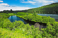 Rivière aux Écorces (River) in the Laurentian Mountains<br /> Parc national des Laurentides<br /> Quebec<br /> Canada