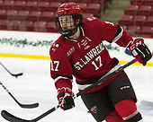Drew Smolcynski (SLU - 17) - The Harvard University Crimson defeated the St. Lawrence University Saints 6-3 (EN) to clinch the ECAC playoffs first seed and a share in the regular season championship on senior night, Saturday, February 25, 2017, at Bright-Landry Hockey Center in Boston, Massachusetts.