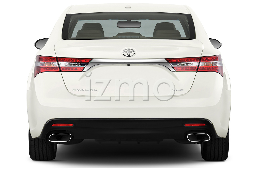 Straight rear view of 2013 Toyota Avalon XLE Stock Photo