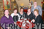 Celebrating Women's Christmas at The Horseshoe  Restaurant, Listowel on Friday night last were Marie Alice Walsh, Hannah Fitzell, Chrissy O'Carroll, Marian O'Sullivan, Marie Lynch & Caroline Fitzell at back and all from Asdee.