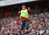 9th September 2017, Emirates Stadium, London, England; EPL Premier League Football, Arsenal versus Bournemouth; Alexis Sanchez of Arsenal warming up on the touchline