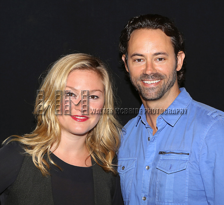"""Julia Stiles and James Wirt attend the """"Phoenix"""" Cast Photo Call at their rehearsal studio on July 9, 2014 in New York City."""