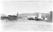 Conoco bulk plant looking northeast from Guadalupe Street.  On the left is the back of the cavalry stockade.<br /> AT&amp;SF / NMC  Santa Fe, NM  Taken by McKittrick, Margaret - circa 1928
