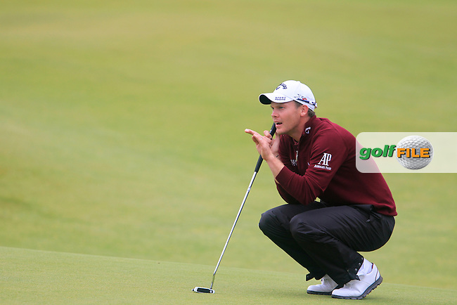 Danny WILLETT (ENG) on the 18th during the final round on Monday of the 144th Open Championship, St Andrews Old Course, St Andrews, Fife, Scotland. 20/07/2015.<br /> Picture: Golffile | Fran Caffrey<br /> <br /> <br /> All photo usage must carry mandatory copyright credit (&copy; Golffile | Fran Caffrey)