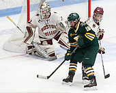 Cassidy Campeau (UVM - 18), Andie Anastos (BC - 23) -  The Boston College Eagles defeated the University of Vermont Catamounts 4-3 in double overtime in their Hockey East semi-final on Saturday, March 4, 2017, at Walter Brown Arena in Boston, Massachusetts.