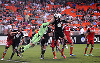 DC United forward Dwayne De Rosario (7)  goes against Toronto FC goalkeeper Stefan Frei (24) DC United tied Toronto FC 3-3 at RFK Stadium, Saturday August 6 , 2011.