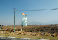 Drive-by billboards in the outskirts of Toluca, Estado de Mexico, Mexico.
