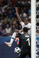 International friendly football match France vs Italy, Allianz Riviera, Nice, France, June 1, 2018. <br /> France's Kylian Mbappe (l) in action with Italy's goalkeeper Salvatore Sirighu (r) during the international friendly football match between France and Italy at the Allianz Riviera in Nice on June 1, 2018.<br /> UPDATE IMAGES PRESS/Isabella Bonotto