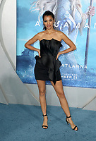 "HOLLYWOOD, CA - DECEMBER 12: Stephanie Sigman, at Premiere Of Warner Bros. Pictures' ""Aquaman"" at The TCL Chinese Theater in Hollywood, California on December 12, 2018. Credit: Faye Sadou/MediaPunch"