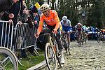 Greg Van Avermaet (BEL) CCC Team climbs the Muur van Geraardsbergen during Omloop Het Nieuwsblad 2020, Belgium. 29th February 2020.<br /> Picture: Serge Waldbillig/cyclingpix.lu | Cyclefile<br /> <br /> All photos usage must carry mandatory copyright credit (© Cyclefile | cyclingpix.lu/Serge Waldbillig)