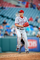 Syracuse Chiefs relief pitcher Sammy Solis (36) delivers a pitch during a game against the Buffalo Bisons on July 6, 2018 at Coca-Cola Field in Buffalo, New York.  Buffalo defeated Syracuse 6-4.  (Mike Janes/Four Seam Images)