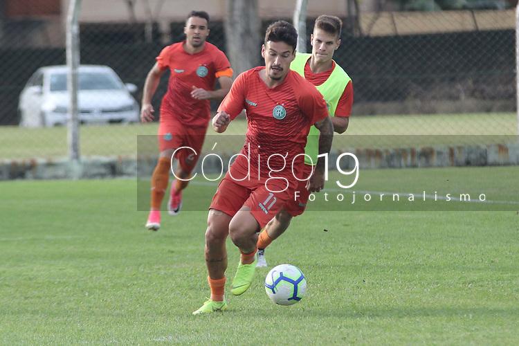CAMPINAS, SP 02.07.2019 - TREINO DO GUARANI - Jogadores durante treino do Guarani, no Centro de Treinamento em Campinas (SP), nesta terça-feira (02). (Foto: Denny Cesare/Código19)