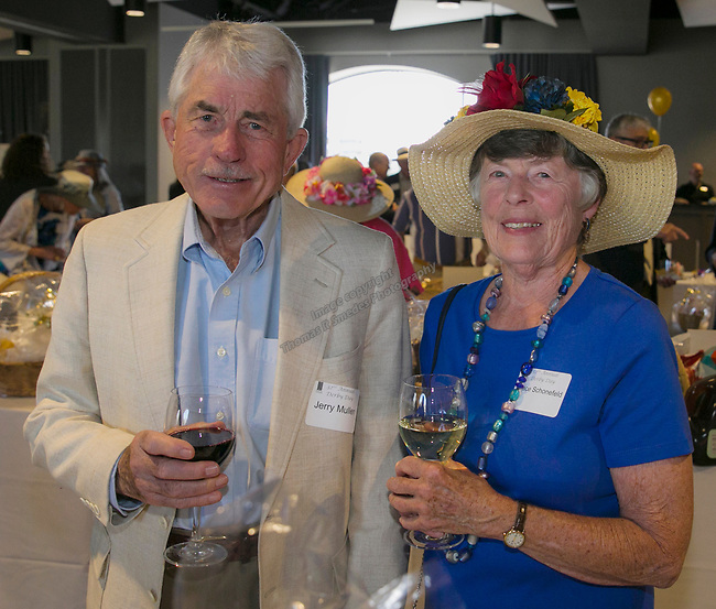 Jerry Mullen and Grace Schonefeld during the Derby Day fundraiser for the Reno Chamber Orchestra at the Renaissance Reno on Saturday, May 4, 2019.