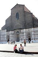 Una veduta della Basilica di San Petronio, in Piazza Maggiore, a Bologna.<br /> A view San Petronio's Basilica in piazza Maggiore, Bologna.<br /> UPDATE IMAGES PRESS/Riccardo De Luca