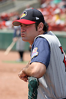 Toledo Mudhens Tony Fiore during an International League game at Dunn Tire Park on June 8, 2006 in Buffalo, New York.  (Mike Janes/Four Seam Images)