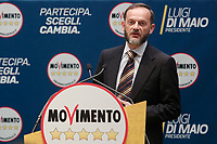 Marco Montanari<br /> Roma 29/01/2018. Presentazione dei candidati nelle liste uninominali del Movimento 5 Stelle.<br /> Rome January 29th 2018. Presentation of the candidates for Movement 5 Stars.<br /> Foto Samantha Zucchi Insidefoto