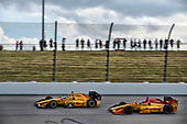 Verizon IndyCar Series<br /> Iowa Corn 300<br /> Iowa Speedway, Newton, IA USA<br /> Sunday 9 July 2017<br /> Graham Rahal, Rahal Letterman Lanigan Racing Honda Ryan Hunter-Reay, Andretti Autosport Honda<br /> World Copyright: Michael L. Levitt<br /> LAT Images