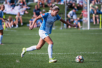 Kansas City, MO - Wednesday August 16, 2017: Alanna Kennedy during a regular season National Women's Soccer League (NWSL) match between FC Kansas City and the Orlando Pride at Children's Mercy Victory Field.
