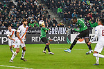 07.11.2019, Borussia-Park - Stadion, Moenchengladbach, GER, EL, Borussia Moenchengladbach vs. AS Roma, UEFA regulations prohibit any use of photographs as image sequences and/or quasi-video<br /> <br /> im Bild Marcus Thuram  (#10, Borussia Moenchengladbach) macht das Tor zum 2:1<br /> <br /> Foto © nordphoto/Mauelshagen