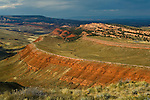 Geologic Shale Anticline near Lander, Wind River Range, Fremont County, Wyoming