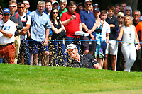 Andrew Dodt plays out of a bunker on the 1st green during the BMW PGA Golf Championship at Wentworth Golf Course, Wentworth Drive, Virginia Water, England on 28 May 2017. Photo by Steve McCarthy/PRiME Media Images.