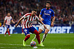 Hector Herrera of Atletico de Madrid and Raul Garcia of Athletic Club de Bilbao during the La Liga match between Atletico de Madrid and Athletic Club de Bilbao at Wanda Metropolitano Stadium in Madrid, Spain. October 26, 2019. (ALTERPHOTOS/A. Perez Meca)